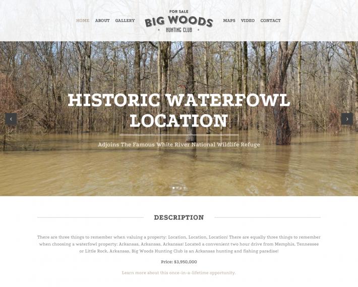 Big Woods Hunting Club Q New Media Portfolio